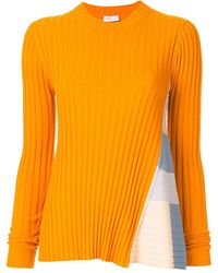 Rosetta Getty ストライプパネル セーター - オレンジ