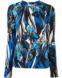 La DoubleJ フローラル ロングtシャツ - ブルー