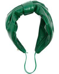 Parlor Ruched Bow Headband - Green