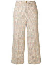 Twin Set - Cropped Houndstooth Trousers - Lyst