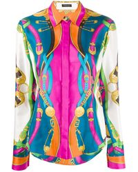 Versace Barocco Rodeo Print Shirt - Pink