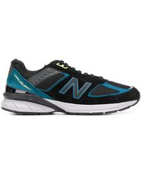 New Balance Sneakers Met Geborduurd Logo - Zwart