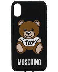 Moschino Hülle iPhone XS MAX Toy aus schwarzem PVC
