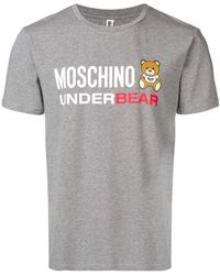 Moschino Пижама 'underbear' - Серый