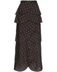 85c723cab4 Rejina Pyo - Flounced Polka-dot Maxi Skirt - Lyst