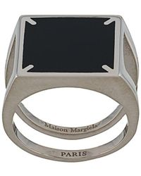 Maison Margiela Ring mit vier Nähten - Mettallic
