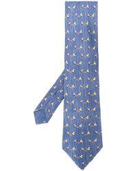 Hermès 2000's Stropdas Met Patroon - Blauw