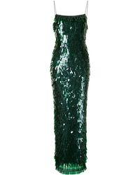 Rachel Gilbert Tayah スパンコール ドレス - グリーン