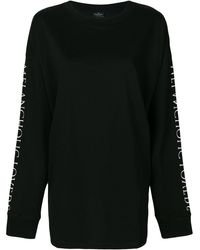 Marcelo Burlon Uplank ロングtシャツ - ブラック