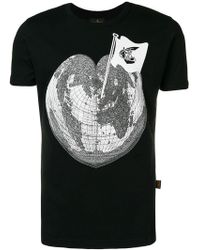 Vivienne Westwood Anglomania - Heart Globe Printed T-shirt - Lyst