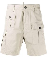 DSquared² Pocket Detail Cargo Shorts - Natural