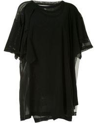 Yohji Yamamoto レイヤード Tシャツ - ブラック