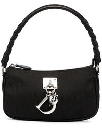 Dior Сумка Lady Dior Pre-owned С Узором Trotter - Черный