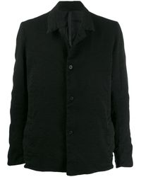 Poeme Bohemien Notched Collar Jacket - Black
