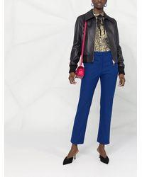 Victoria Beckham レザージャケット - ブルー