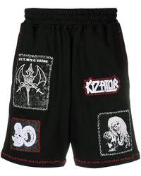KTZ マルチパッチ ショートパンツ - ブラック
