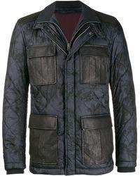 Etro Стеганое Пальто С Камуфляжным Принтом - Многоцветный