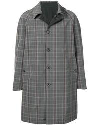 Lanvin チェック シングルコート - グレー