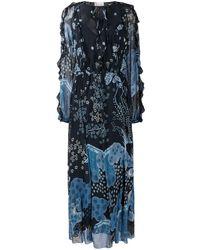 RED Valentino Maxi-jurk Met Patroon - Blauw