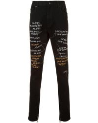 Haculla I Love You Not Really Jeans - Black