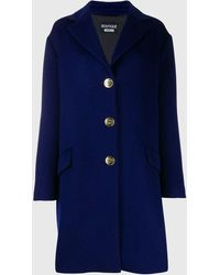 Boutique Moschino Oversized Single-breasted Coat - Blue