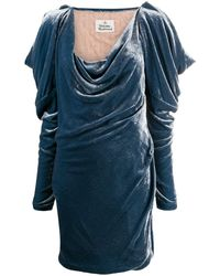 Vivienne Westwood ロングスリーブ ミニドレス - ブルー