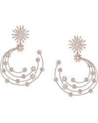 Marchesa Supernova Post Embellished Hoop - Metallic