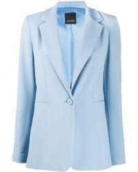 Pinko Long-line Blazer - Blue