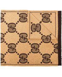 Gucci - GG ロゴ ジャカード スカーフ - Lyst