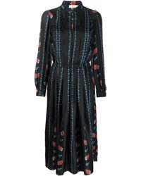 Tory Burch Платье-рубашка Со Складками - Черный