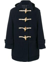 AMI Patched Pockets Duffle Coat - ブラック