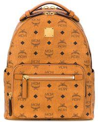MCM Monogram Print Backpack - Brown