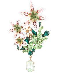 Dolce & Gabbana - ラインストーン ブローチ - Lyst