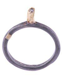 Rosa Maria Hata Icy Grey Diamond Ring - Metallic