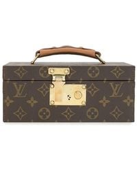 Louis Vuitton Logo Print Jewelry Case - Brown