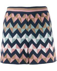 M Missoni Geometric Print Shorts - Blue