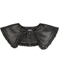 Ganni Ruffled Tied Collar - Black