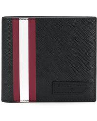 Bally Stripe Detail Wallet - Black