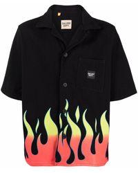 GALLERY DEPT. Flame-print Short-sleeve Shirt - Black