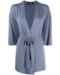 Styland Lightweight Wrap Cardigan - Blue