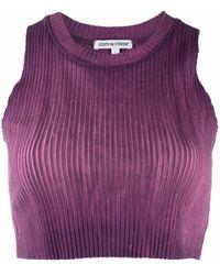Cotton Citizen Top con fantasia tie dye crop - Viola
