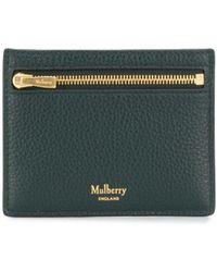 Mulberry Компактный Картхолдер С Логотипом - Зеленый