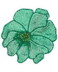 Racil Flower Brooch - Green