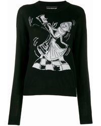 Boutique Moschino Chess Dancers ウールセーター - ブラック