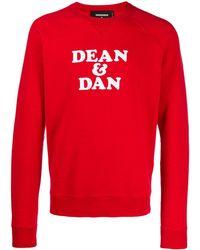 DSquared² Sweat Dean & Dan - Rouge