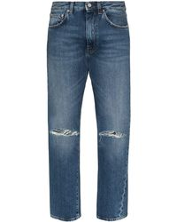 Totême High-waisted Straight-leg Jeans - Blue