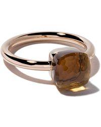 Pomellato 18kt Rose & White Gold Small Nudo Citrine Quartz Ring - Oranje