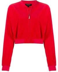 Juicy Couture Hooded Embellished Track Jacket - Red