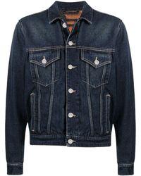 Tom Wood Short Denim Jacket - Blue