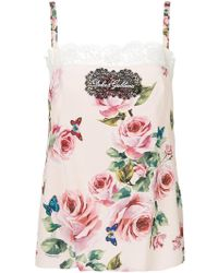 Dolce & Gabbana - Floral Camisole - Lyst